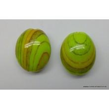 Abalorio forma ovalada, verde