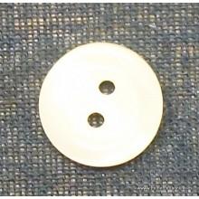 Botón blanco roto, 10 mm