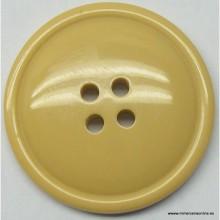 Botón beige, 4 agujeros, 15 mm