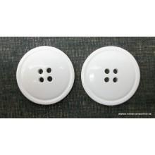 Botón blanco 4 agujeros,...