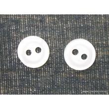 Botón blanco 2 agujeros, 9 mm