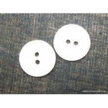 Botón blanco 2 agujeros,...
