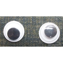 Ojos móviles, adhesivos, 1 cm