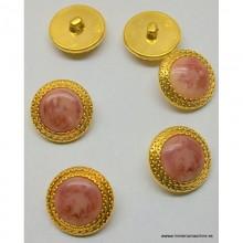 Botón color rosa - salmón...
