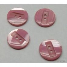 Botón color rosa - lila, 14 mm