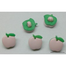 Botón con forma de manzana,...