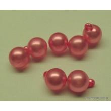 Botón rosa tipo perla, 8 mm