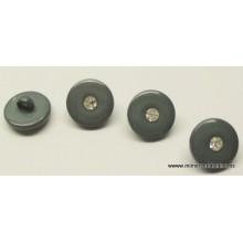 Botón gris con piedra...