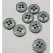 Botón gris acero, 4...
