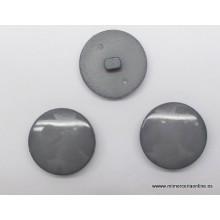 Botón redondo liso gris, 22 mm