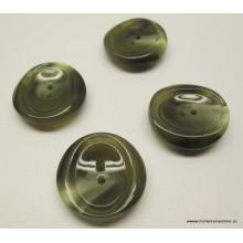 Botón tonos marrones, forma...