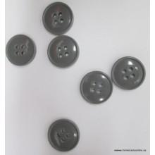 Botón gris liso, 4...