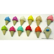 Botón con forma de helado,...
