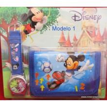 Pack Mickey reloj + cartera
