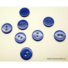 Botón 11,5 mm, 2 agujeros, varios colores (tonos azules)