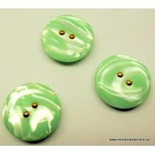 Botón  verde brillante con...