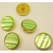 Botón verde brillante, con...