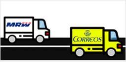 Envios por CORREOS y MRW